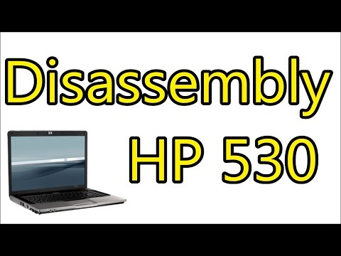 How To Open & Clean Fan HP 530 - Keyboard, Palmrest, Heatsink | Disassembly Notebook