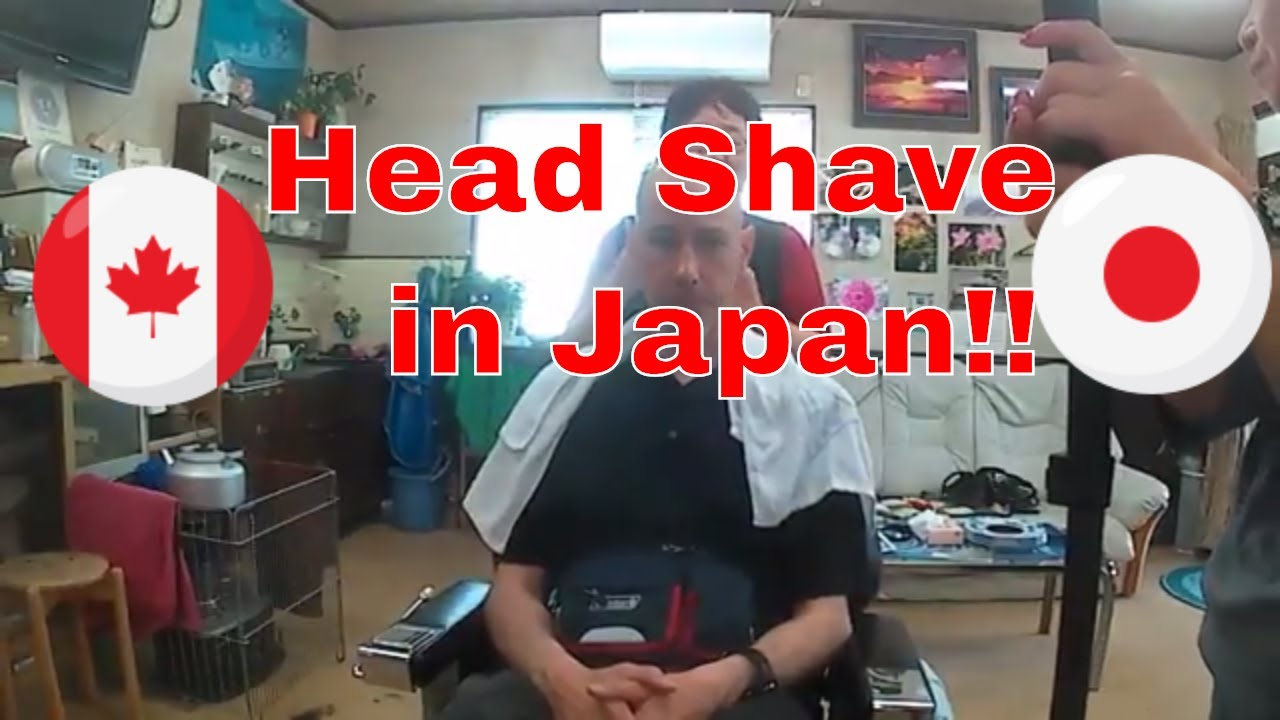 Traditional Japanese Haircut And Shave On A Foreigner Asmr