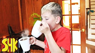 Download lagu DON'T Drink The COFFEE CHALLENGE! SuperHeroKids Funny Family Videos Compilation