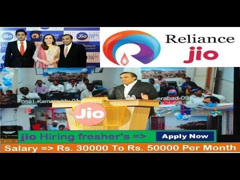 RELIANCE JIO Recruitment 2017 | Private jobs | All over India Jobs
