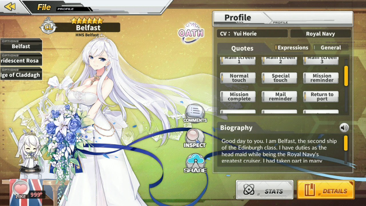 Azur Lane En Marrying Belfast All Voice Lines Youtube Belfast is a ship in azur lane. azur lane en marrying belfast all voice lines