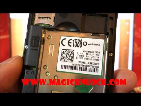 How To Enter Code In Vodafone 354 @ Www.magicunlock.com