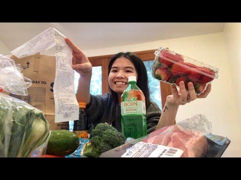 Vlog 141| Đi Chợ Mua Thức Ăn Hàng Ngày Ở Mỹ Hết Bao Nhiêu?