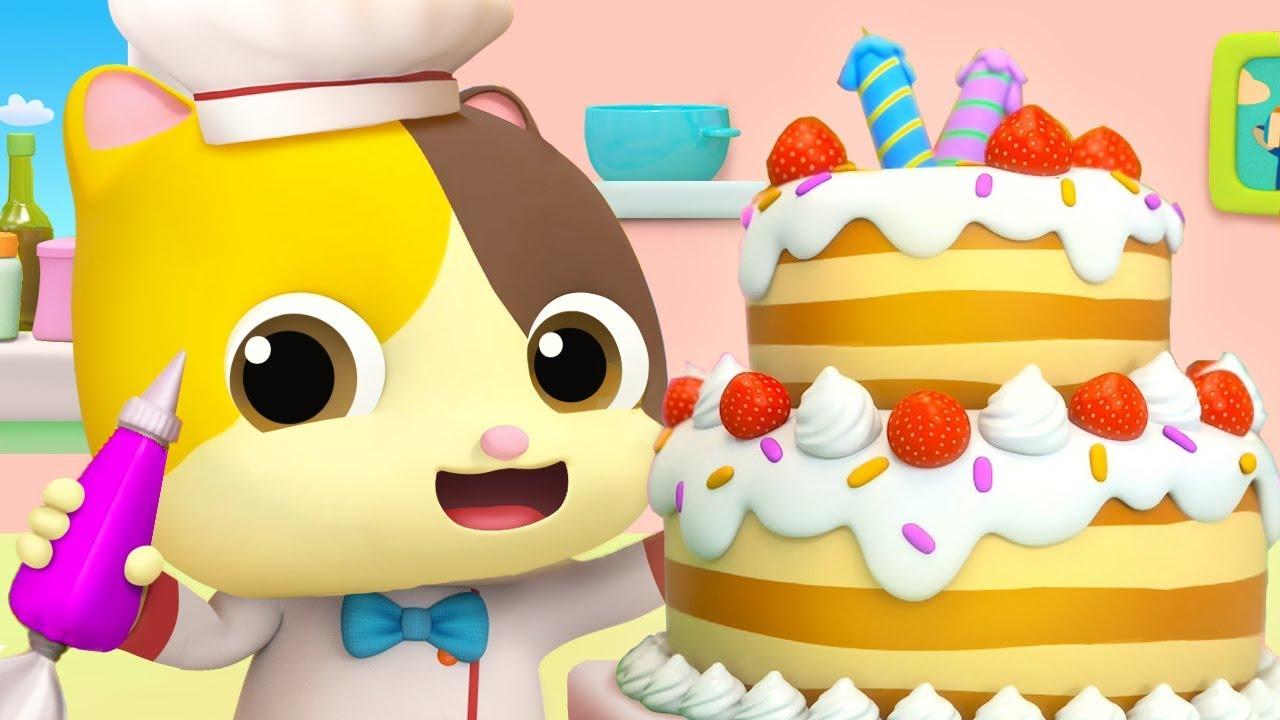 Pat A Cake   Colors Song, Food Song   Nursery Rhymes   Kids Songs   Kids Cartoon   BabyBus