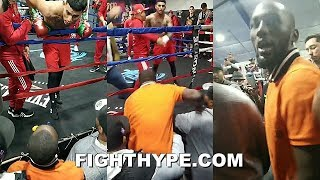 (WOW!) TERENCE CRAWFORD AND JOSE BENAVIDEZ NEARLY COME TO BLOWS; RESTRAINED AFTER HEATED ENCOUNTER