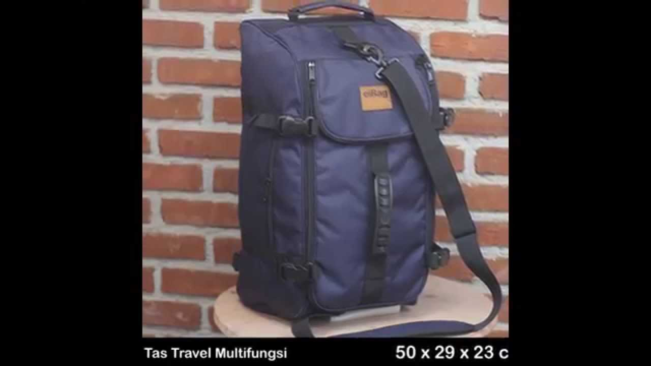 Kang Sandi Vidmoon Tas Travel Bag Backpack Eibag 602 Abu Multifungsi Murah Bandung