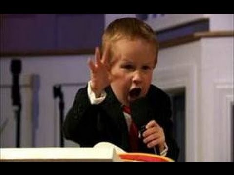 Real Talk Radio: Out of The Mouth Of Babes. Child Preachers???