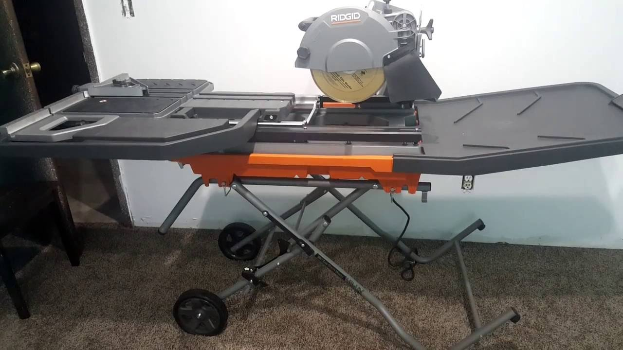 ridgid 10 inch tile saw 2016 model 4092 quick review