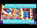 HUGE HANDPAYS!  Lock it Link Eureka Slot Machine - High Limit Play