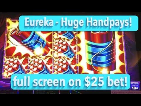 HUGE HANDPAYS!  Lock it Link Eureka Slot Machine - High Limit Play