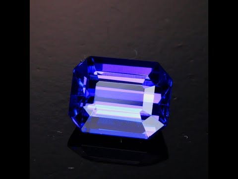 emerald diamond and cut ring tanzanite