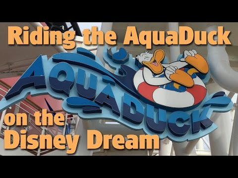 Riding the AquaDuck | Disney Dream