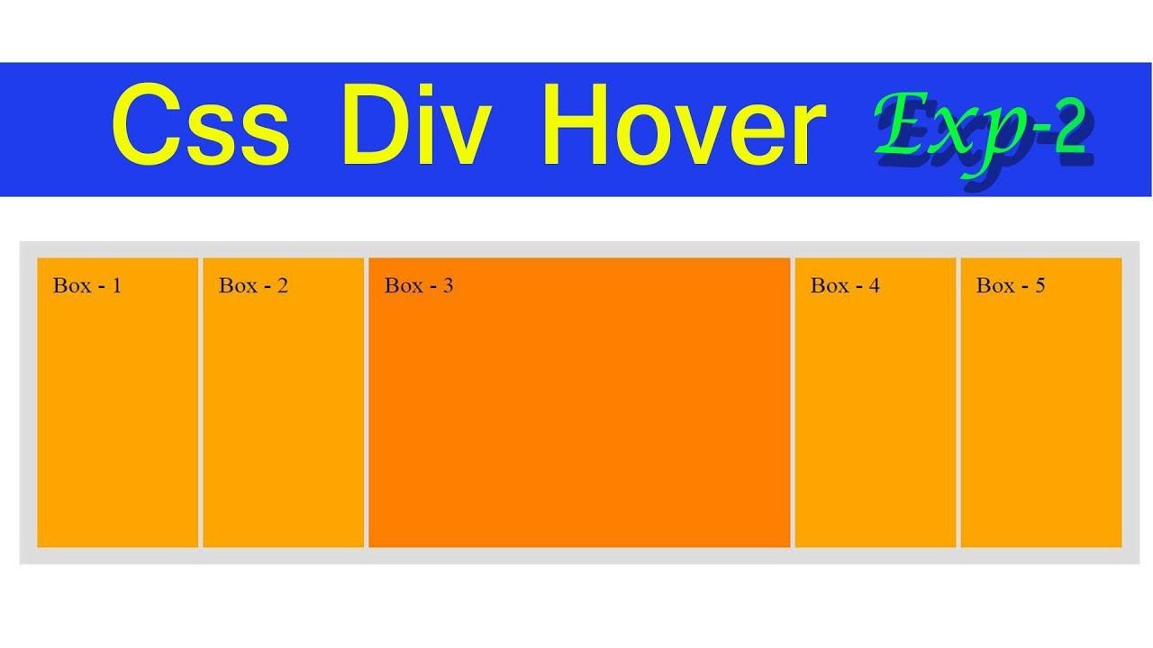 Css div box hover effect using html and css exp 2 for Html div