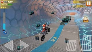 Hill Bike Galaxy Trail World 3 /  Space Bike Racing Action / Android Gameplay FHD #2