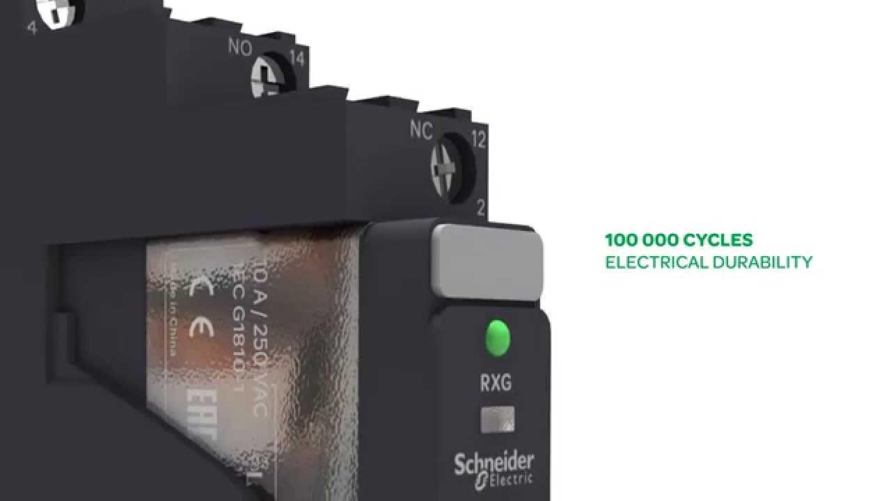 Schneider Electric Zelio Rxg Plug In Interface Relay Youtube