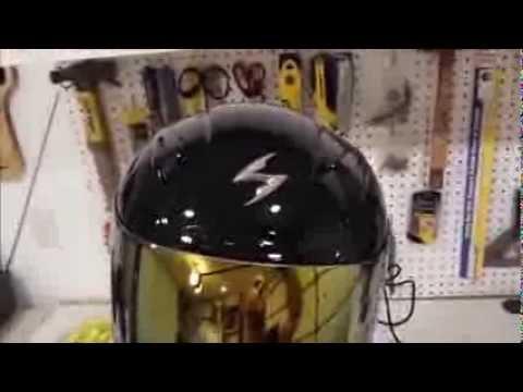 Scorpion EXO-410 Air Gold Mirror helmet visor shield