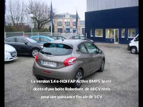 offre de peugeot 208 1 4 e hdi fap active bmp5 3p de 2012 en vente castres youtube. Black Bedroom Furniture Sets. Home Design Ideas