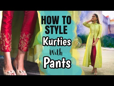 How to Style Kurties  with Pants    Myntra Fashion #practicalfashion #styling #kurtieswithpants