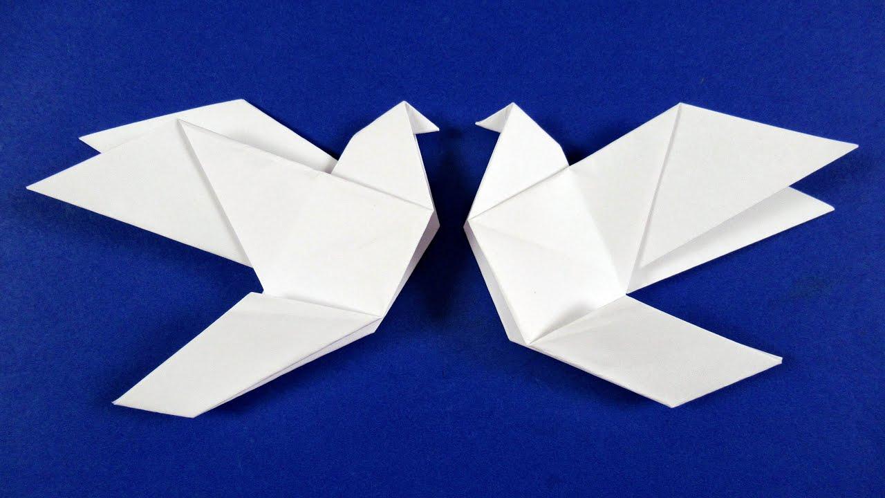 Как сделать оригами ГОЛУБЯ из бумаги
