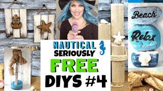 Nautical Decor/trash To Treasure/free Diys/farmhouse Coastal