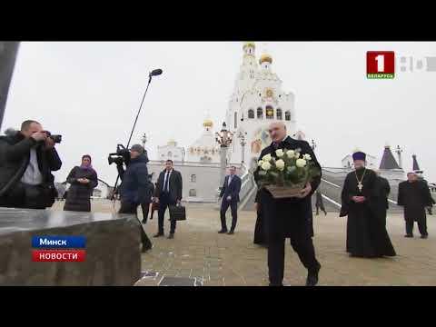 Александр Лукашенко зажег рождественскую свечу у иконы святого князя Александра Невского
