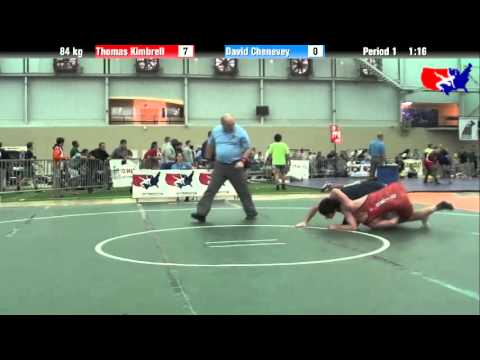 Thomas Kimbrell vs. David Chenevey at 2013 ASICS University Nationals - FS