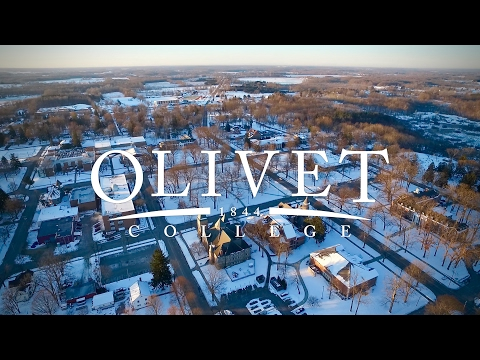 Olivet College Covered In Snow