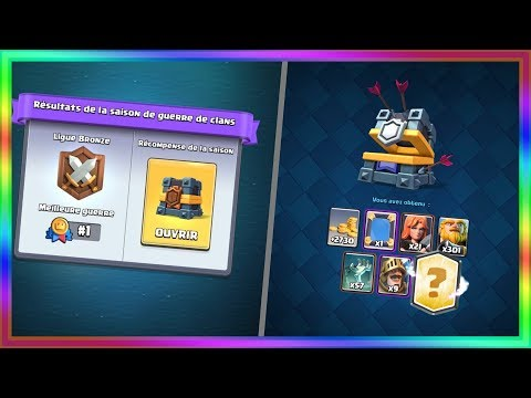 PACK OPENING COFFRE GUERRE DE CLAN LEGENDAIRE CLASH ROYALE
