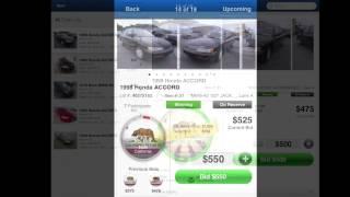 Copart Mobile App: Bidding Overview