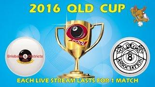 2016 Qld Cup - Men's 8 Ball Team - Brisbane v Gold Coast 6:30pm