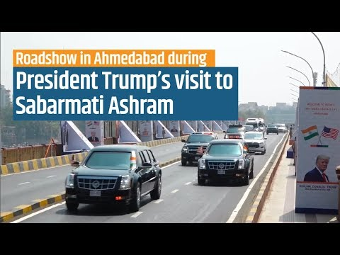 PM Modi and President Trump's roadshow to Sabarmati Ashram in Ahmedabad, Gujarat | PMO