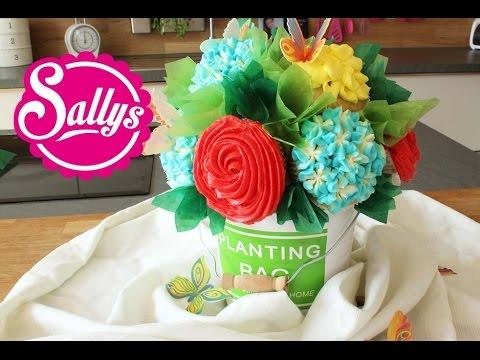 Muttertag Cupcake Blumenstrauß in wenigen Schritten / Cupcake Flower Bouquet
