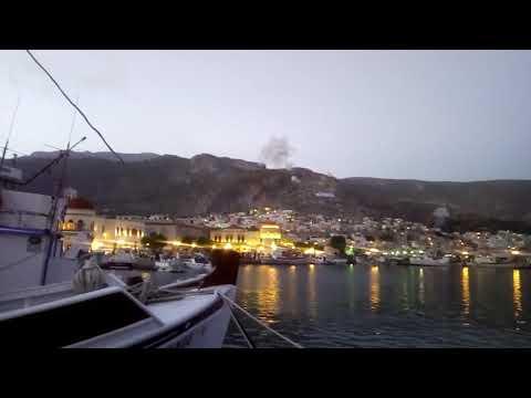28-4-2019: Κυριακή του Πασχα δυναμίτες από το Μαυροβούνι στην Κάλυμνο