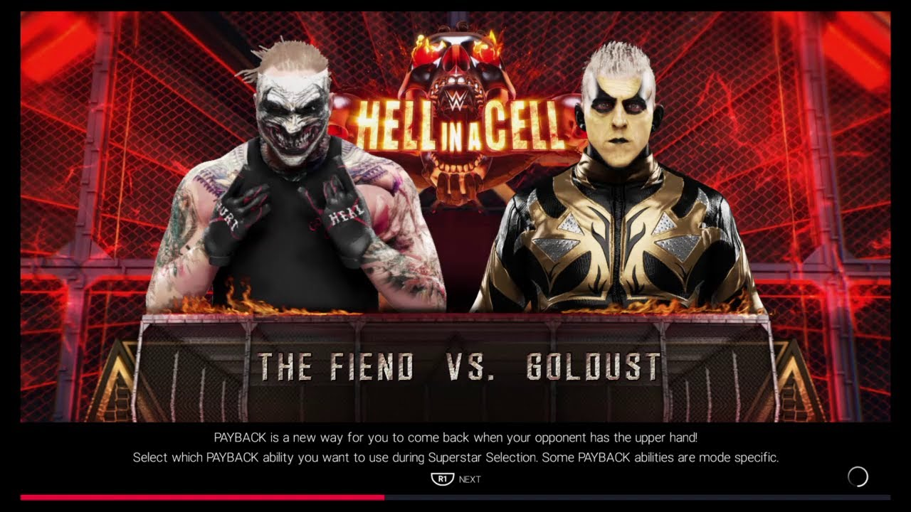 The Fiend Absolutely Destroys Goldust - WWE 2K19 PS4 Gameplay