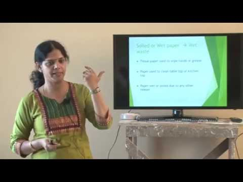 Waste management talk by Veena Rajappa