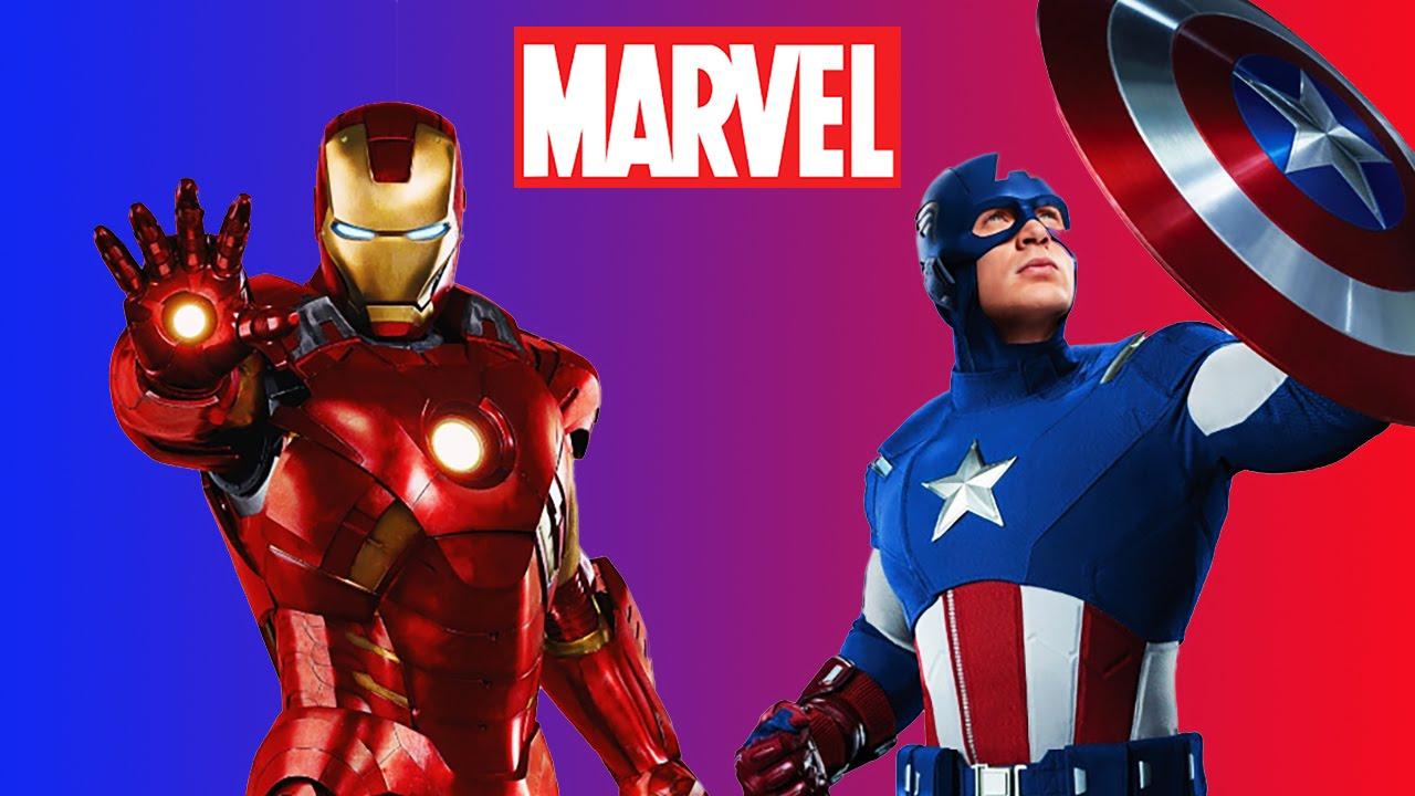 Disney Marvel Avengers Diy Handmade Craft Figures Featuring Ironman Amp Captain America Youtube