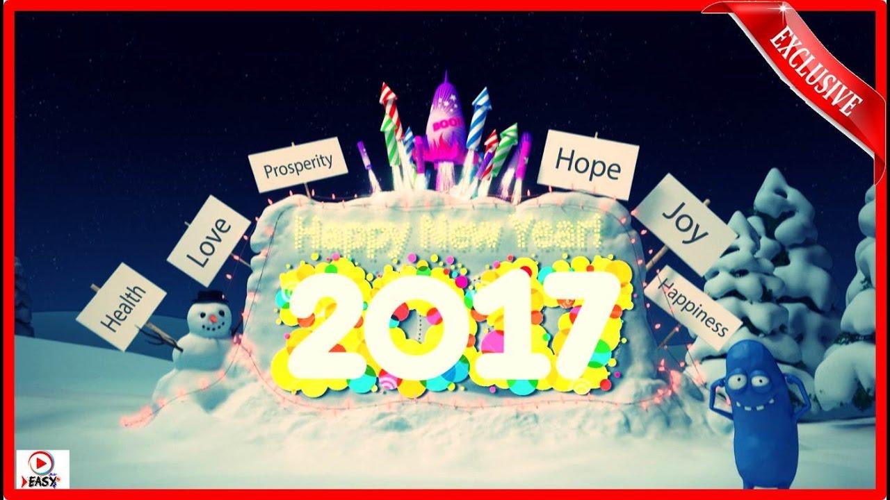Happy New Year 2017 Funny Christmas Cartoon Video Amazing
