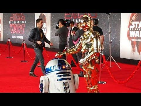 R2-D2、C-3PO、BB-8が登場!映画『スター・ウォーズ/最後のジェダイ』ワールドプレミア
