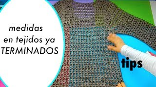 Prendas Tejidas, diferencia en medidas blusa sueter manga larga ganchillo crochet