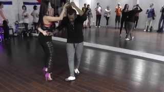 Salsa Class 14.07.15 at D'AKOKAN Dance School - Yoandy, Klava, Natasha