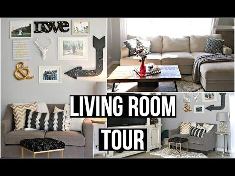 Living Room Tour 2016: AFFORDABLE HOME DECOR