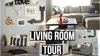 Living Room Tour 2016: AFFORDABLE HOME DECOR