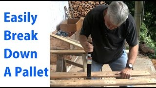 How To Disassemble A Pallet - Beginners #10 - A Woodworkweb Video