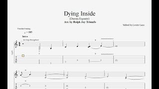 Dying Inside (Arr. by Ralph Jay Triumfo) - Transcribed by Lester Lazo + Free PDF Tab