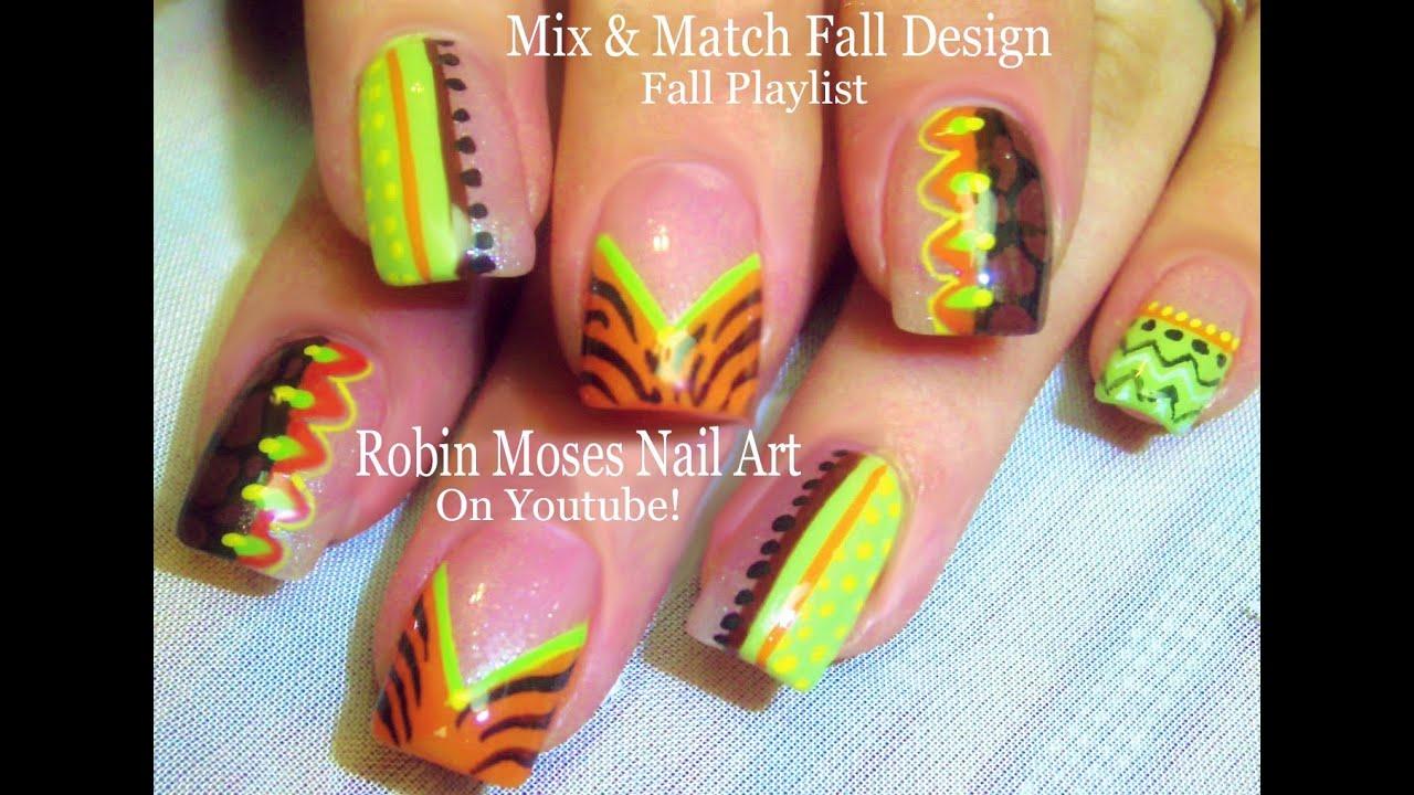 Easy Fall Nails Diy Thanksgiving Nail Art Design Tutorial Youtube