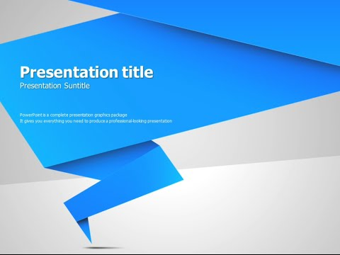 origami animated powerpoint template - YouTube