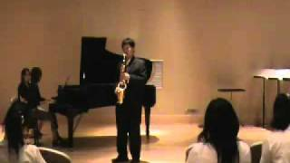 Henri Tomasi Saxophone concerto 2nd movement Giration. Allegro performed by Yongsit Yongkamol