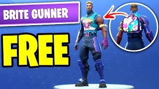 HOW TO GET BRITE GUNNER SKIN FOR FREE | *NEW* HOW TO GET BRITE BAG IN FORTNITE