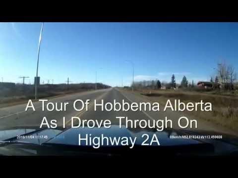 Driving through Hobbema Alberta on highway 2A