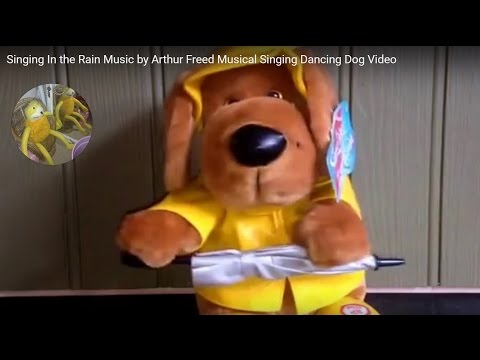 Singing In the Rain Music by Arthur Freed Musical Singing Dancing Dog Video